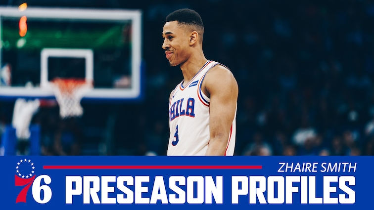 buy online d70fe 20ff2 Preseason Profiles | Zhaire Smith | Philadelphia 76ers