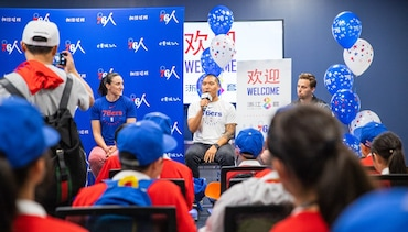 76ers Host 40 Youth On Cultural Visit From China
