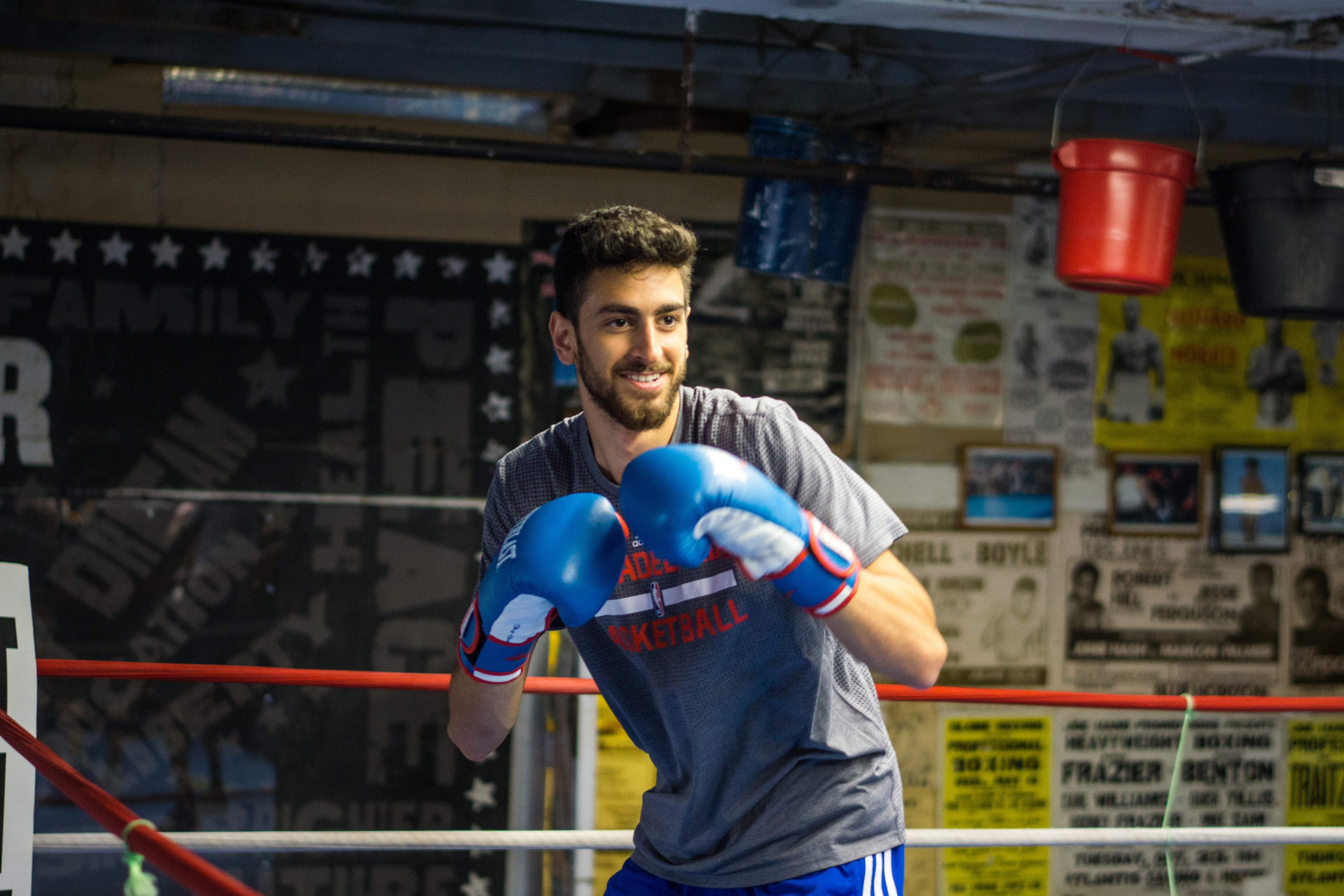 Photos: Players Workout at Front Street Boxing Gym