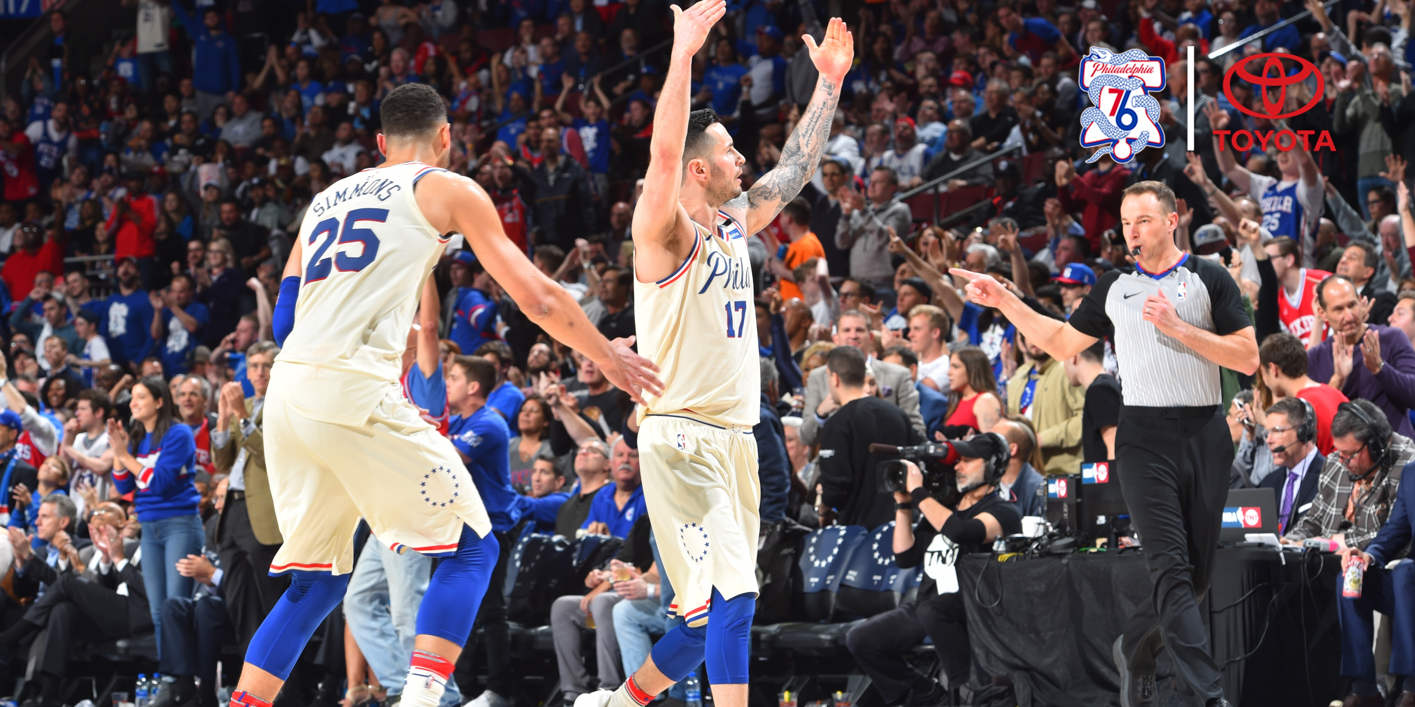 At the Buzzer  Big Second Half Vaults Sixers into Second Round