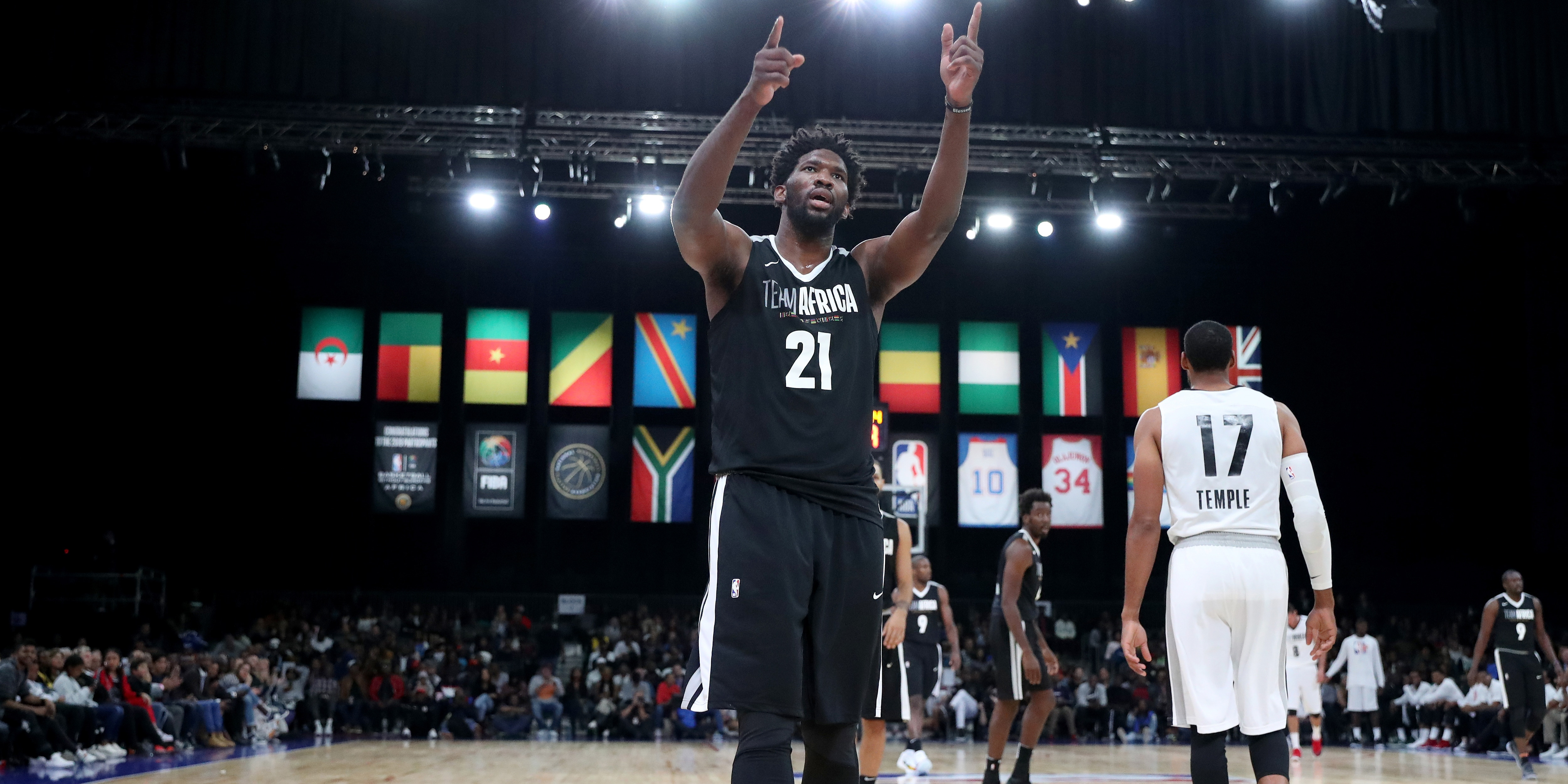 Big Ovation Big Day for Embiid in NBA Africa Game 2018