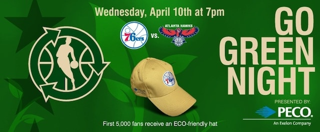 Sixers to host Go Green Night during game vs Atlanta