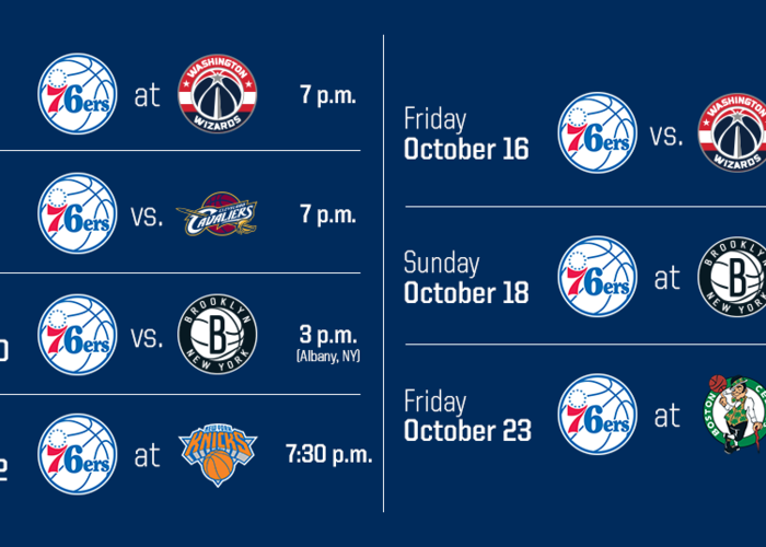 graphic regarding 76ers Printable Schedule referred to as Sixers Announce 2015 Preseason Routine Philadelphia 76ers