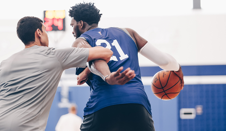 Training Camp | Already Looking Dominant, Embiid Strives for More Bully Ball