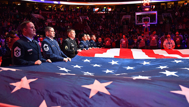 Sixers, Toyota Celebrate Military on Veterans Day