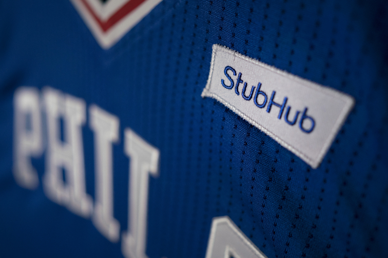 154f4b08bb82 Philadelphia 76ers And StubHub Announce First Jersey Sponsorship In Major  American Professional Sports
