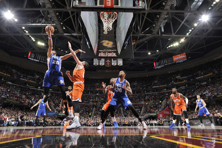 LeBron, Cavs end rough March with 122-105 win over 76ers
