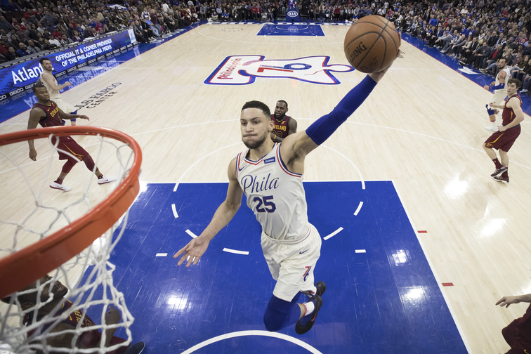 Ben Simmons Named to 2017-18 NBA All-Rookie First Team ... b5330586d