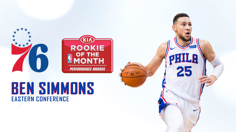 cca8f1e19 Simmons Named Eastern Conference KIA Rookie Of The Month ...