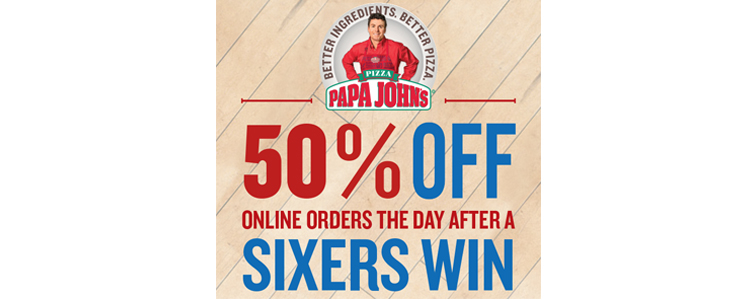 a6ae319d177 Philadelphia 76ers Announce 'Sixers Win, You Win' Promotion With Papa John's