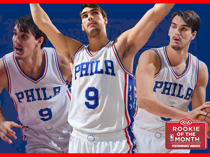 Sixers Forward Dario Saric Named NBA s Eastern Conference Rookie Of The  Month eebd0beff
