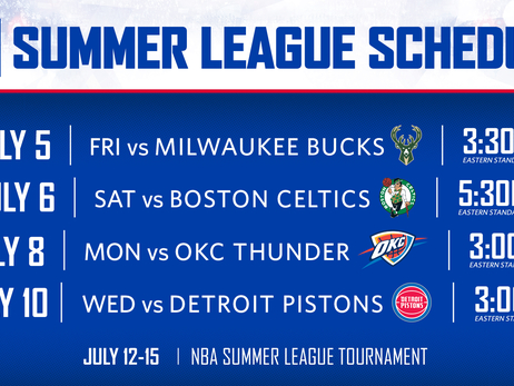 NBA Announces Schedule for 2019 Summer League