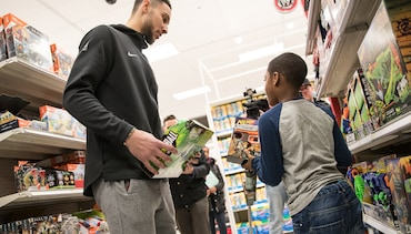 Ben Simmons Hosts Shopping Spree at Target