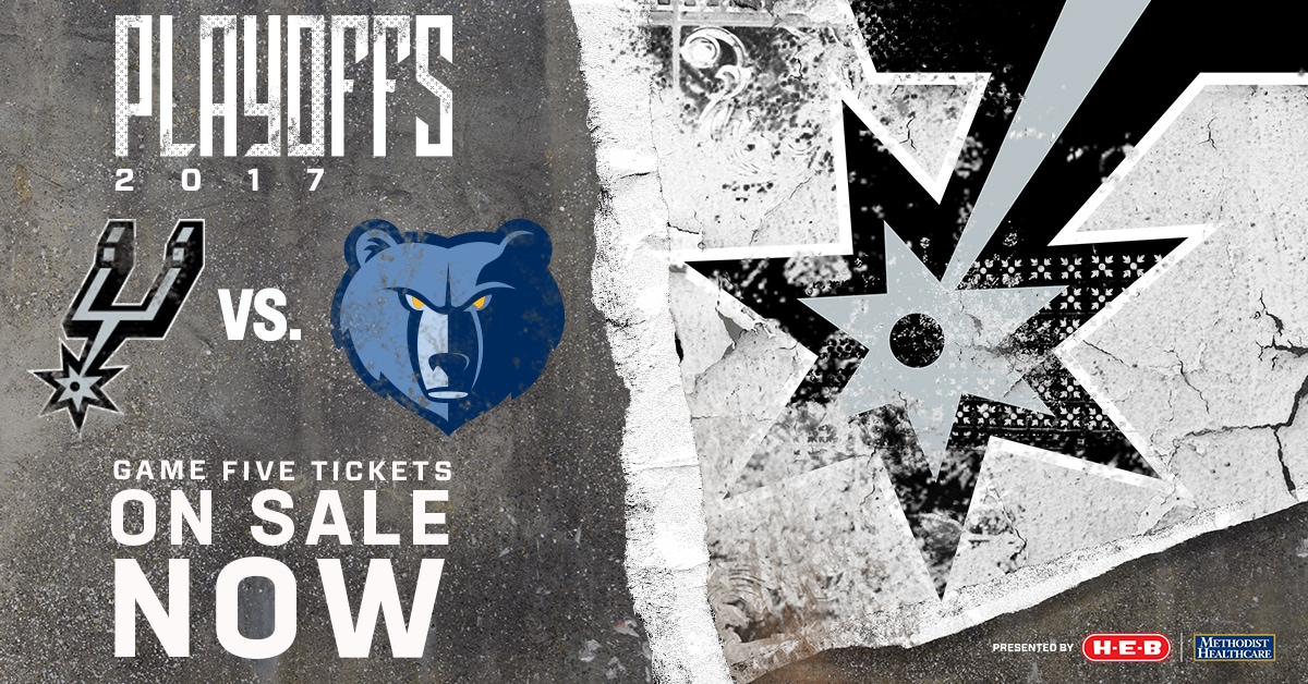 SPURS VS. GRIZZLIES GAME 5 PLAYOFF TICKETS ON SALE NOW
