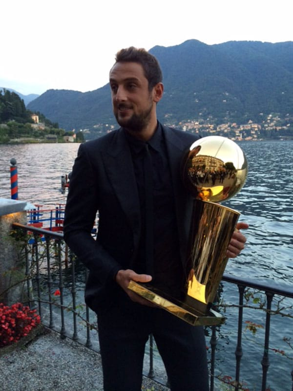 Larry Attends Italian Gala with Marco | San Antonio Spurs