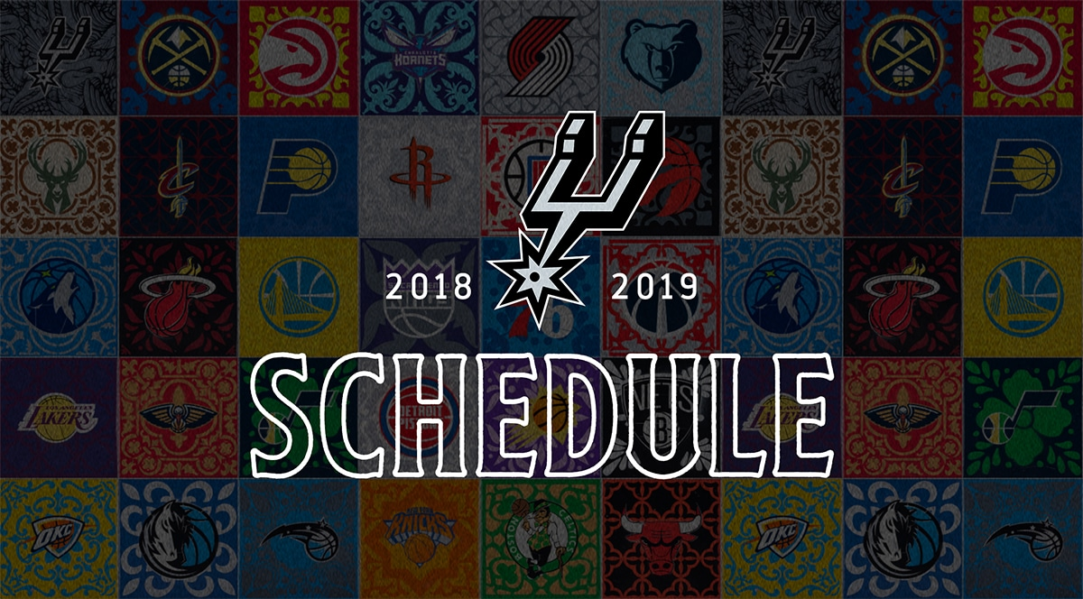 This is an image of Simplicity San Antonio Spurs Schedule Printable