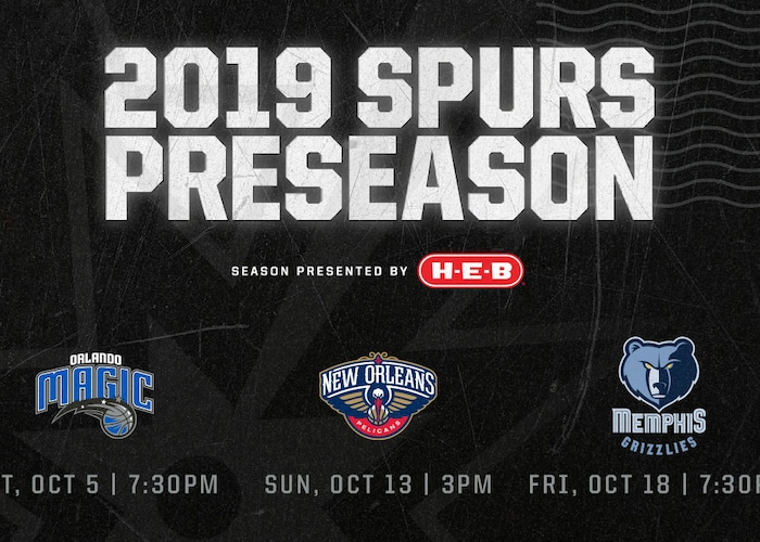 Spurs Announce Preseason Schedule Tickets On Sale At Noon