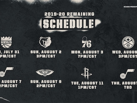 SAN ANTONIO SPURS ANNOUNCE SCHEDULE FOR 2019-20 SEASON RESTART IN ORLANDO