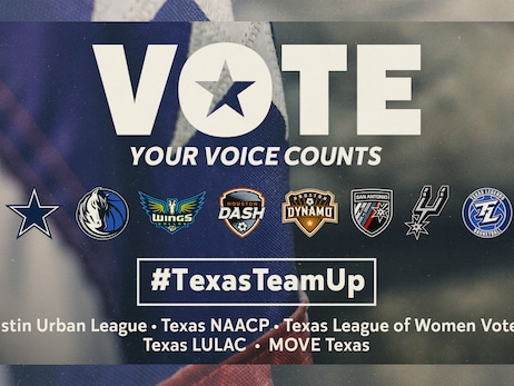 TEXAS PRO SPORTS TEAMS AND CIVIC ORGANIZATIONS UNITE WITH #TEXASTEAMUP CAMPAIGN TO ENCOURAGE VOTER TURNOUT IN THE LONE STAR STATE