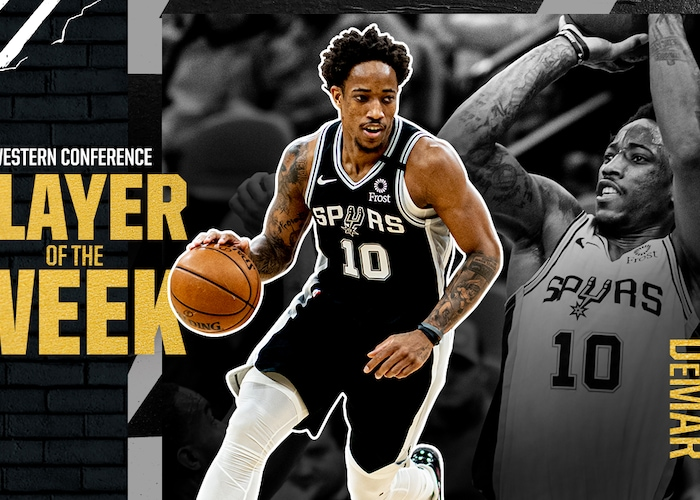 Demar Derozan Named Western Conference Player Of The Week
