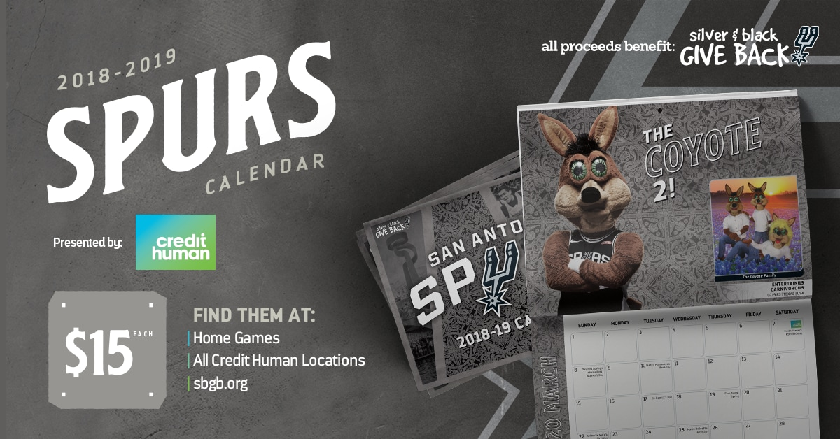 SPURS CALENDARS PRESENTED BY CREDIT HUMAN GO ON SALE NOVEMBER 29