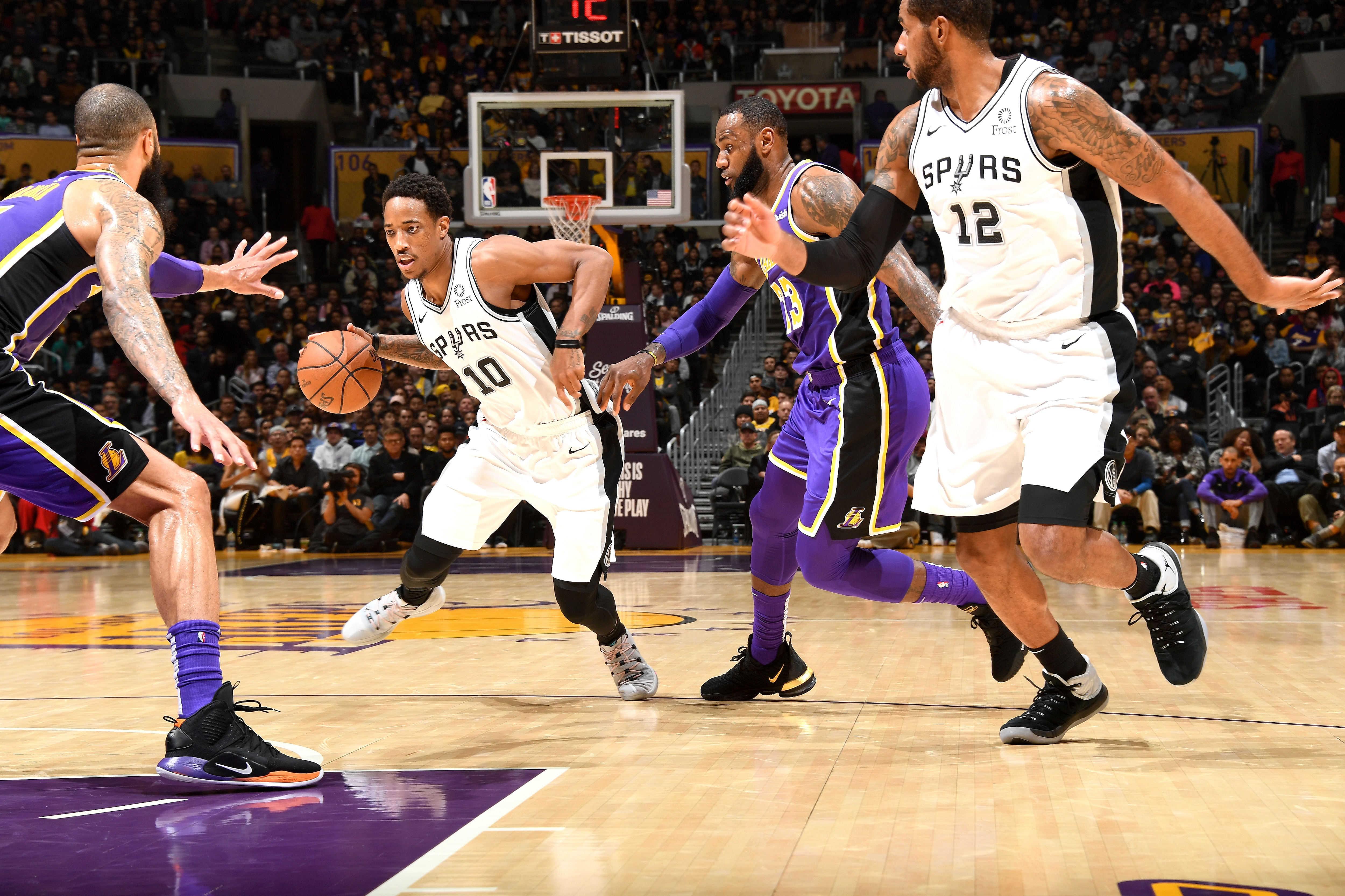 Photos from Wednesday's game versus the Los Angeles Lakers.
