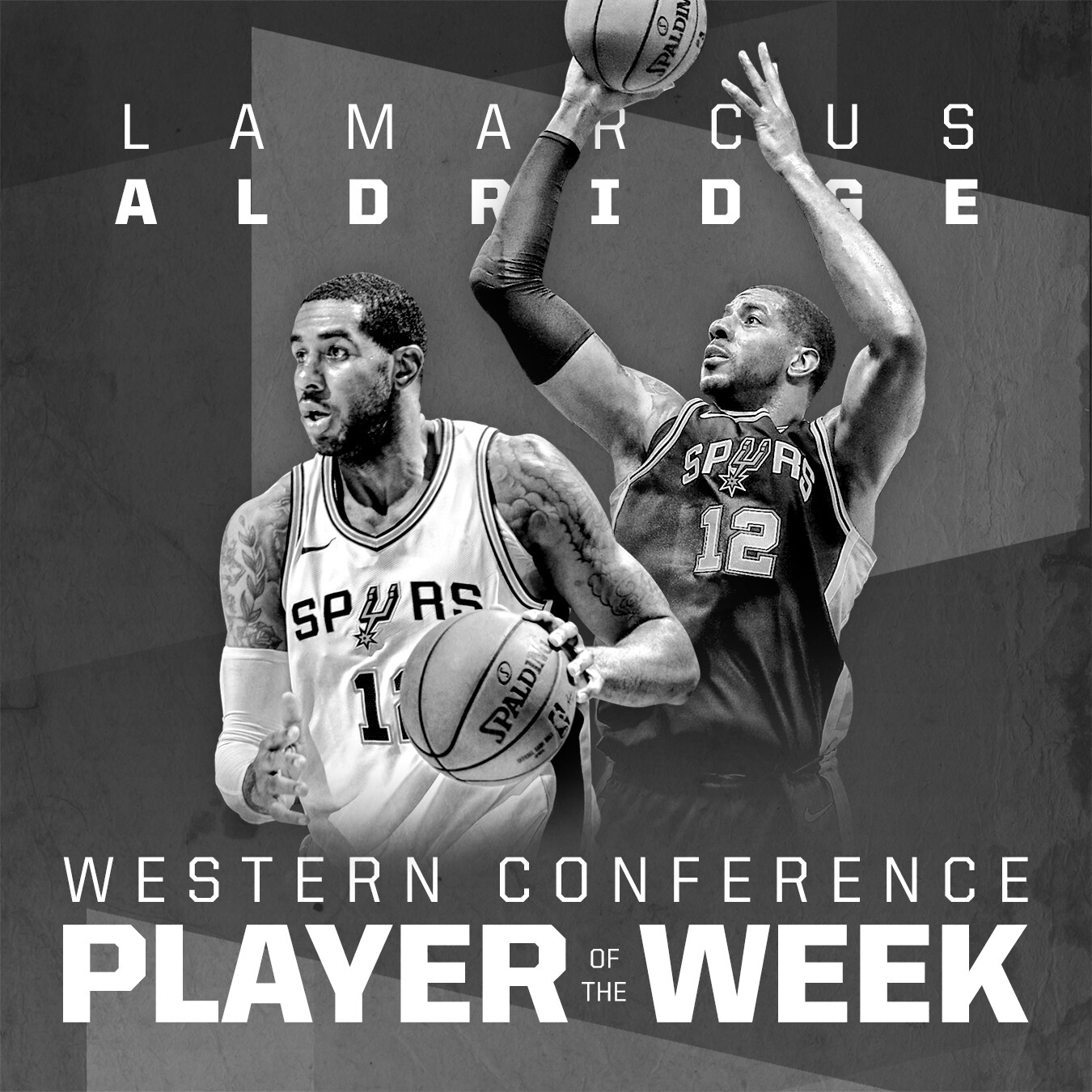 039dce4ee LAMARCUS ALDRIDGE NAMED WESTERN CONFERENCE PLAYER OF THE WEEK