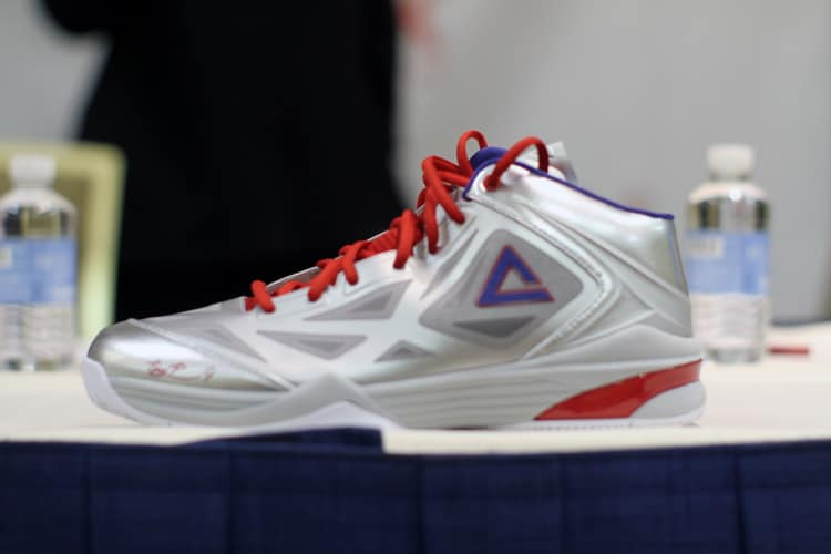 Tony Parker in partnership with Peak Sports USA reveal his 2013 All-Star  shoe.