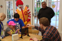 Matt Bonner Visits Ronald McDonald House - 1