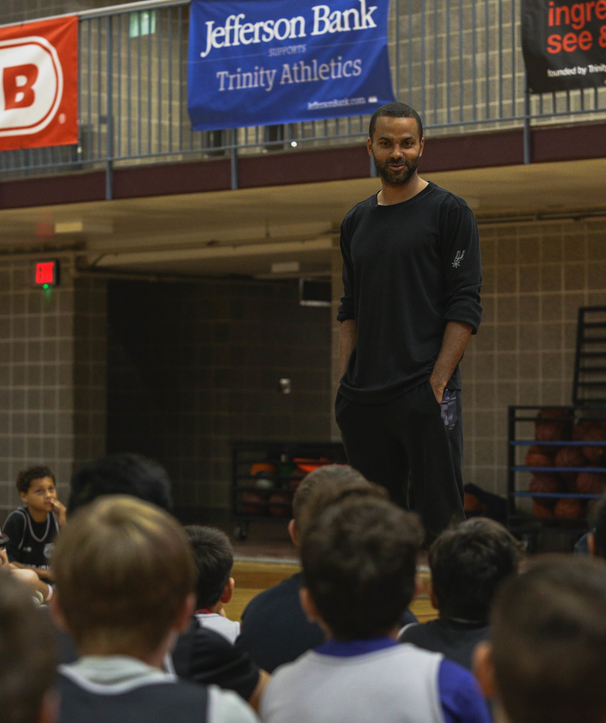 Tony Parker Stops By Spurs Camps