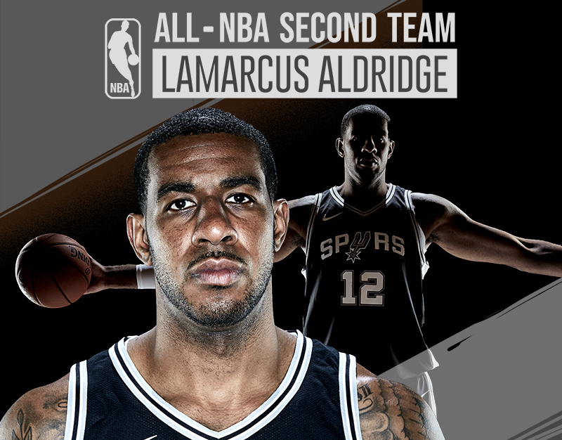 LaMarcus Aldridge All-NBA Second Team