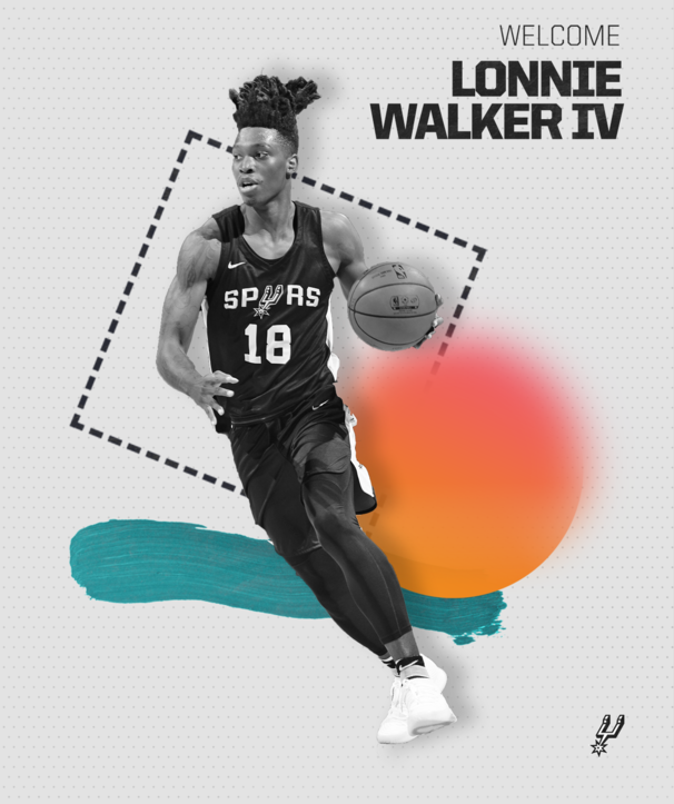 SPURS SIGN 2018 FIRST ROUND PICK LONNIE WALKER IV