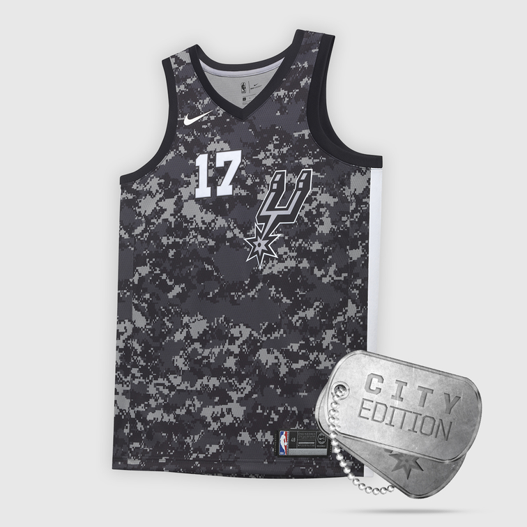 e2bcc39f60c Spurs Nike City Edition Jerseys Pay Tribute to Military City USA ...