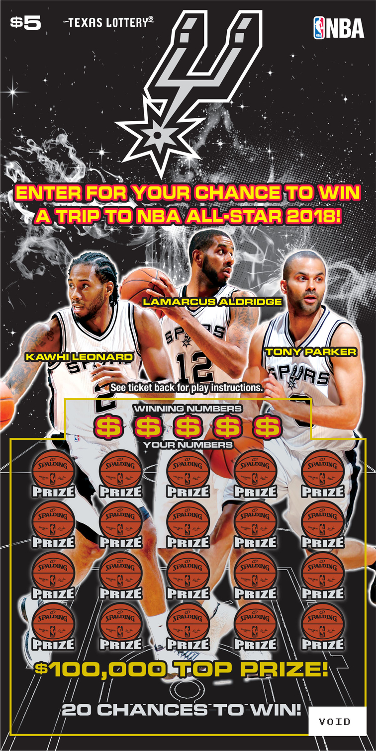 TEXAS LOTTERY LAUNCHES SAN ANTONIO SPURS SCRATCH TICKET | San