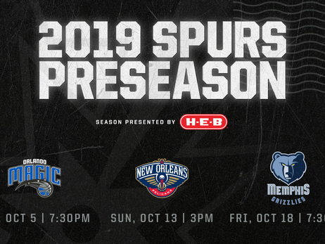 Spurs Announce Preseason Schedule; Tickets On Sale at Noon Today