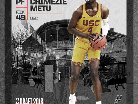 Photos: Chimezie Metu at the 2018 NBA Draft