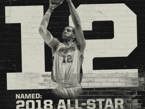 LAMARCUS ALDRIDGE SELECTED AS RESERVE FOR THE 2018 NBA ALL-STAR GAME