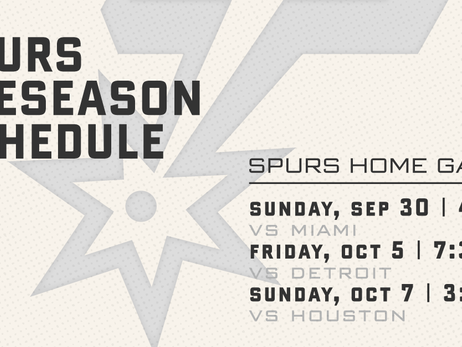SAN ANTONIO SPURS ANNOUNCE 2018 PRESEASON SCHEDULE