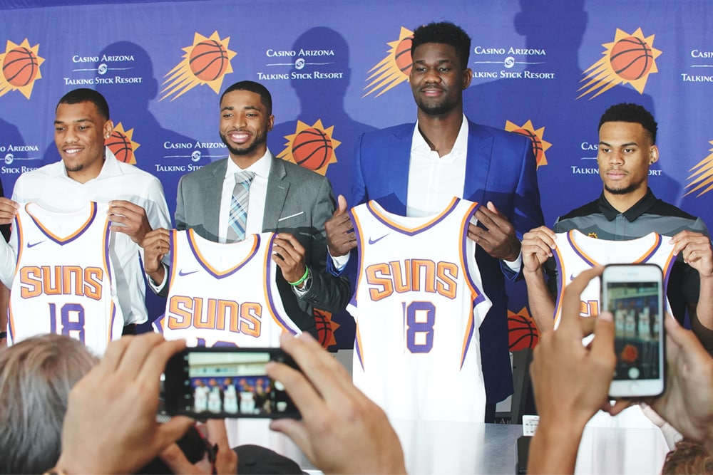 bfefffb4d The Phoenix Suns introduce 2018 NBA Draft picks Deandre Ayton