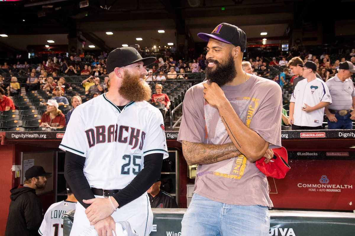 Suns Night at the D-Backs: Tyson Chandler and Archie Bradley