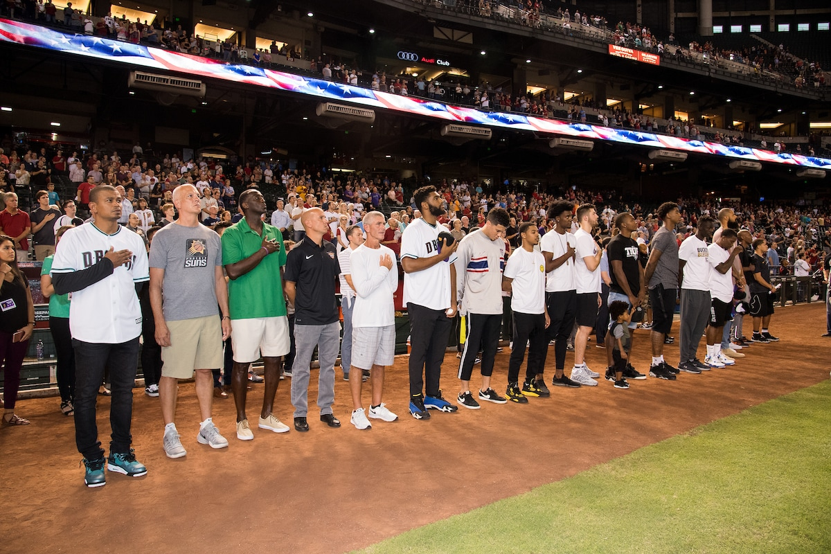 Suns Night at the D-Backs: Natinoal Anthem at Chase Field