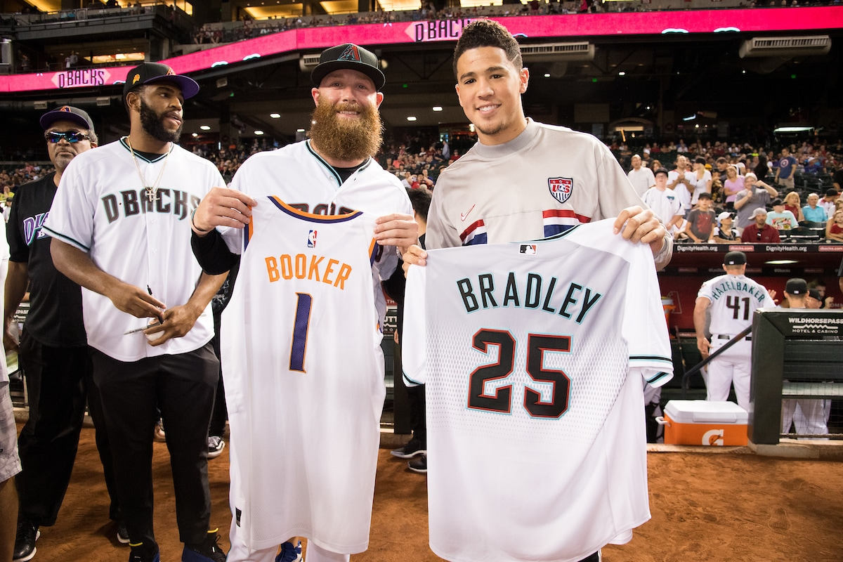 Suns Night at the D-Backs: Devin Booker and Archie Bradley