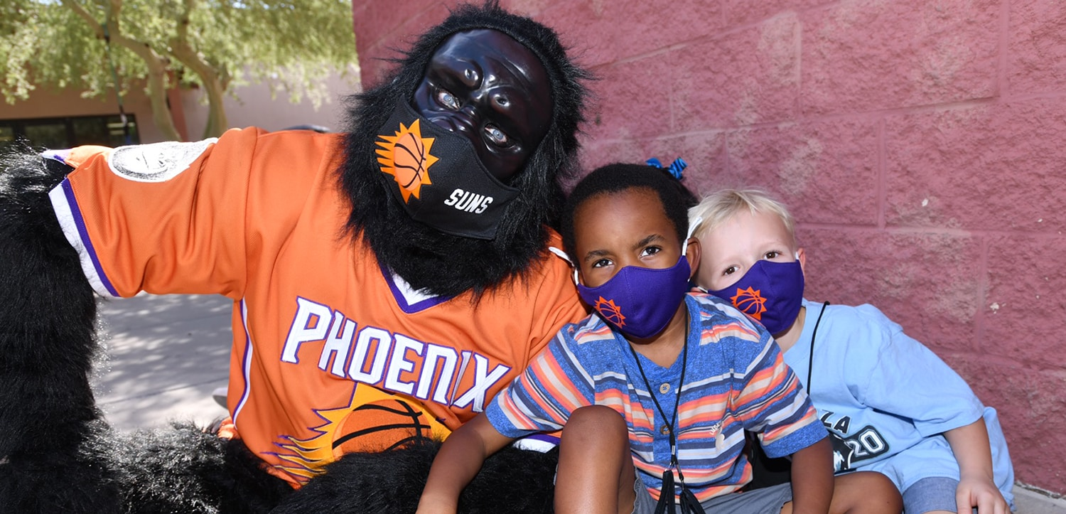 Phoenix Suns Charities, APS & Rex Chapman pledge a combined $100,000 to provide 25,000 masks for children aps-masks-one