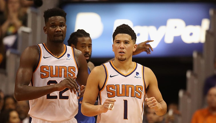 Devin Booker and Ayton