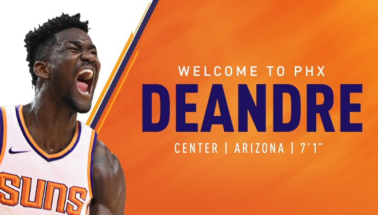 Suns Select Deandre Ayton with First Overall Pick of 2018 NBA Draft