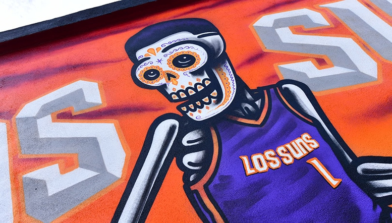 Suns Pay Homage to Mexican Culture with Los Suns-Inspired Mural