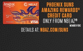 Carry the Suns in your wallet! | Apply now for the Phoenix Suns AmaZing Rewards® Credit Card – only from NB|AZ.