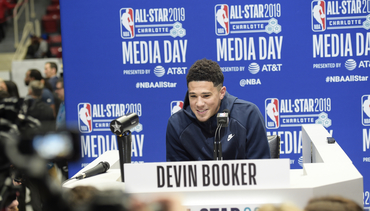 Devin Booker at 2019 MTN Dew 3-Point Contest