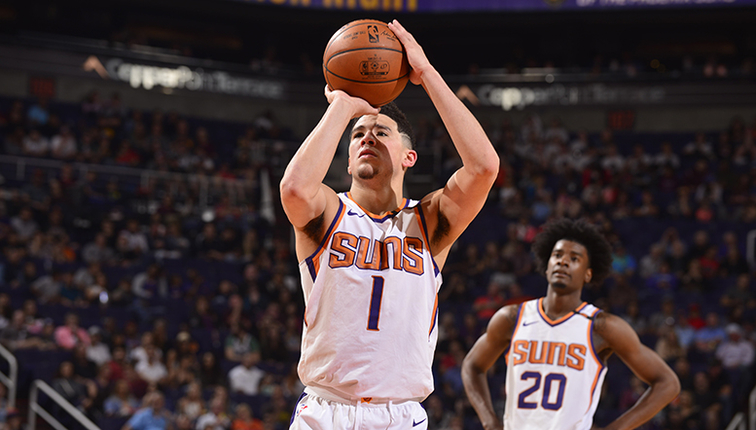 2aba500f7e99 Devin Booker Makes Franchise History at Free Throw Line