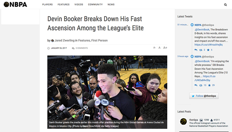 Devin Booker: Ten Questions with NBPA | Phoenix Suns